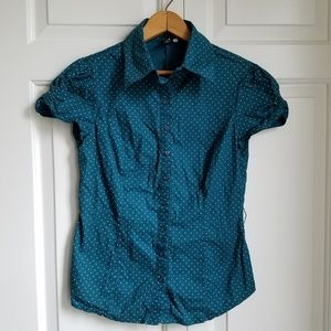 Heart Soul Polka Dot button-up shirt